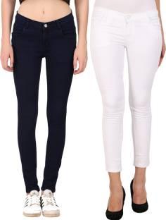 cdd69f5fef6 20 Dresses Slim Women s White Jeans - Buy White 20 Dresses Slim ...