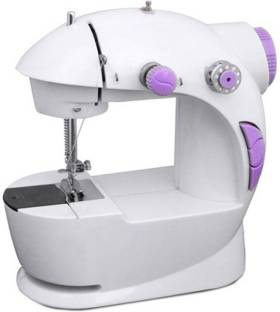 Onshoppy Portable & Compact 4 in 1 Mini Adapter Foot Pedal Electric Sewing Machine ( Built-in Stitches...