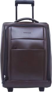 8c373e16fb3 OBANI Genuine Leather Pilot Trolley bag Small Travel Bag - Medium ...