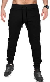 24231681db62 Tripr Solid Men Black Track Pants