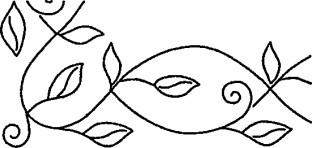 Sten Source 8 x 18-inch Quilt Stencils with 5-inch Leafy Branch Braid by Pepper Cory