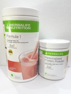 Herbalife Nutrition Combo Formula 1 Shake Mix (500 GM) U0026 Formula 3  Personalized Protein
