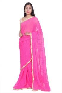 846d8b27e9 Buy Odhni Self Design Bandhani Georgette Pink, Brown Sarees Online ...