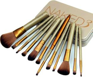 JIAOER Naked3 Makeup Brush Set (12 Pcs)