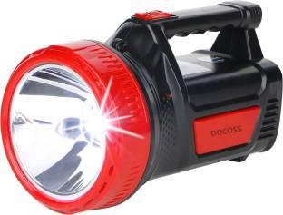 DOCOSS Red Rechargeable 25w Led Torch Light Laser Waterproof Long Range + Emergency Lights Tube Ultra ...