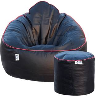 AdevWorld XXXL Luxury Premium Mudda With Footstool Bean Bag Filling