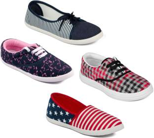 Asian Women Casual & Running Shoes Combo Pack of 4 Casuals For Women