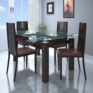Parin Glass 4 Seater Dining Set