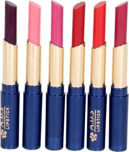 ads Waterproof Matte lipstick set of 6 multicolor -(ba)