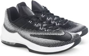 9aa91292e111 Nike ZOOM ASSERSION Basketball Shoes For Men - Buy BLACK WHITE-WOLF ...