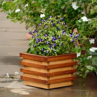 Yellowtable Rustic Wooden Planter Box Tray For Plants Wooden Tray
