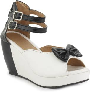 0e29dda9bb74 Trotters Women WHITE Wedges - Buy WHITE Color Trotters Women WHITE ...