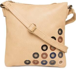 Satchel Bags Women Beige PU Sling Bag
