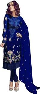 79d0ddc5d1 MF Retail Georgette Embroidered Semi-stitched Salwar Suit Dupatta Material
