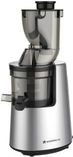 WONDERCHEF Cold Press Juicer V6 - Full Fruit Cold press 200 W Juicer (2 Jars, Black and Silver)