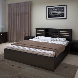 Perfect Homes By Flipkart Waltz Engineered Wood Queen Bed With Storage
