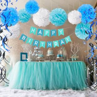 Factory 21 Multicolor Blue White Full Room Baby Boy Birthday Part