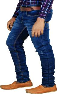 L,Zard Regular Men's Blue Jeans