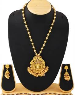 1 gram gold necklace sets buy 1 gram gold necklace sets online at jfl jewellery for less copper jewel set aloadofball Gallery