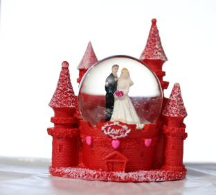 Lilone Red Fort Dome Anniversary Birthday Gifts Decorative Showpiece
