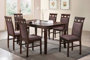 Furn Central Julia Solid Wood 6 Seater Dining Set