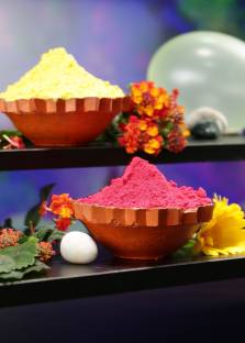 Herbal Gulal Pure Abeer for Safe Gift Holi Color Powder Pack of 2