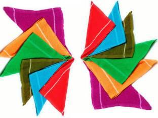 Cotton Colors Floor Wipes Cloth / Mops / Pocha Set of 12 Pcs (9*9 Inches) Multicolor 13 Napkins