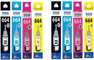 Epson multi Color Ink bottles set of 2  Black, Magenta, Yellow, Cyan  Multi Color Ink Cartridge