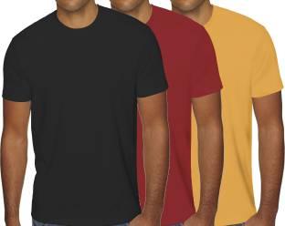 2d7654912c7d77 BROWN SUGAR Solid Men & Women Round Neck Black, Red, Yellow T-Shirt