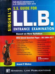 Ss guide for llb entrance examination with solved question papers.