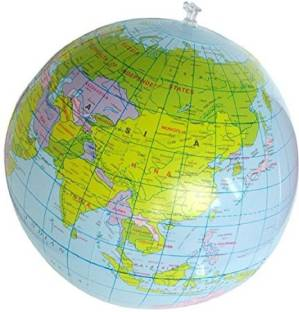 Henbrandt inflatable globe blow up globe world map atlas ball earth henbrandt 40cm inflatable world globe teach education geography toy map gumiabroncs Gallery