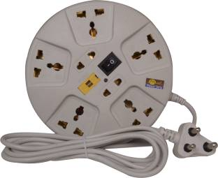 mute Universal Extension Cord Multi Socket Surge Protector 3 Meters 3 Core Lead  Copper  6 A Three Pin Socket