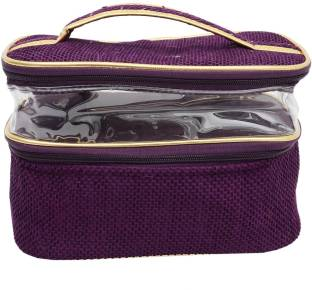 3885b3ac4942 Bagaholics 2 Zip Pockets Multifunction Beauty Travel Multipurpose Cosmetic  Bag Organizer Case Makeup Make up Wash