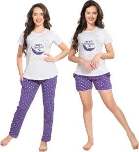 Zivame Women s Printed Multicolor Top   Pyjama Set Price in India ... 5d67f613b