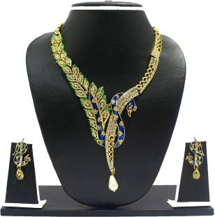 Zaveri Pearls Zinc Jewel Set
