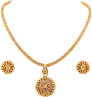 One gram gold jewellery buy one gram gold jewellery online at best jfl jewellery for less copper jewel set aloadofball Images