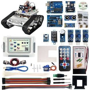 f417f3663e7e5 Generic Kookye Robot Car Electronics Parts Kit With Cd Tutorial For Tank  Chassis Platform Arduino Raspberry