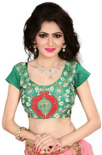 1be294cc7c1a9 Mrinalika Fashion Silk Solid Blouse Material Price in India - Buy ...