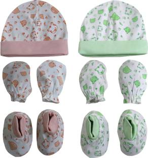 b009c7764 Baby Shopiieee New Born Baby Mittens And Booties & Cap Set (0-3 ...