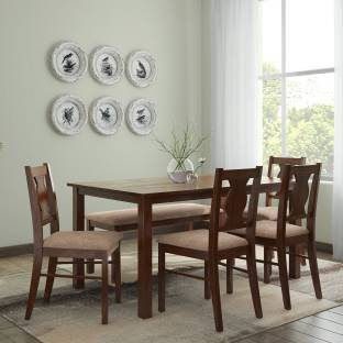 Perfect Homes By Flipkart Luzon Glass 6 Seater Dining Set