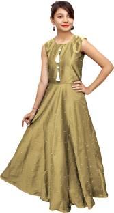 fd28e8514 QIUSHOUNIAO Girls Midi Knee Length Casual Dress Price in India - Buy ...