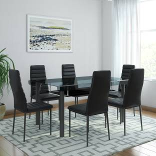 Furnspace Ginerva 6 Seater Dining Set Solid Wood