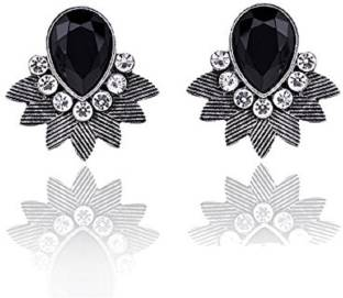 Flipkart com - Buy Amroha Crafts Victorian Black+O58 Alloy Jhumki