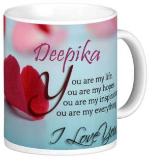 Awwsme Happy Birthday Celebration To Deepika Coffee Ceramic Mug