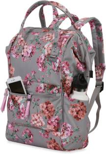 009bf4de083f1 Puma Core Style Backpack IND 21 L Backpack Steel Gray- White-flower ...