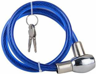 cycle world Bike Lock Anti-Theft Steel Strong Wire Coil Cable Bicycle Motorcycle Security Lock With 2 Keys Cycle Lock