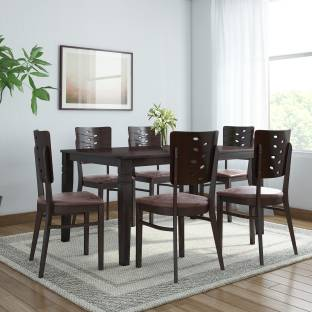 Home By Nilkamal Fern Solid Wood 6 Seater Dining Set
