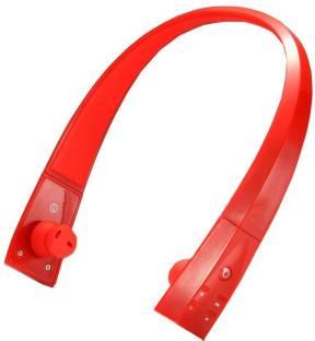 cc4e3e1d969 ShopyBucket V5100 Wireless Bluetooth Over-Ear Headphone Headset Headband  -Red Bluetooth Headset with Mic