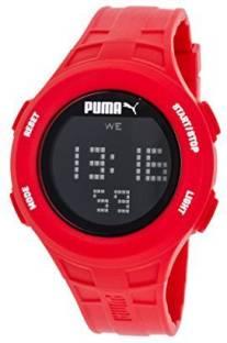 0c09ae251d07 Puma black9354 Unisex Puma Loop Chronograph Digital Red Silicone Watch  PU911301003 Watch - For Men &