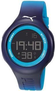 04b5ed1e8371 Puma Black5304 Puma PU910801030 Loop L Blue Digital Sports Silicone Watch  Watch - For Men &